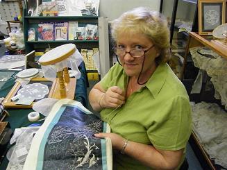 Nora Finnegan Making Lace